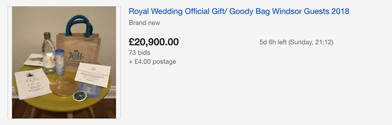 royal wedding ebay goody bag 1 goodie