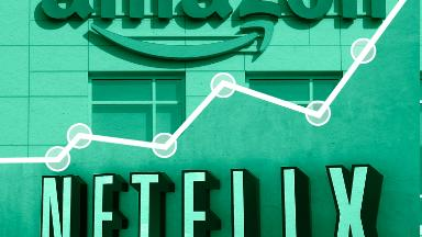 Netflix, Amazon and Facebook are a (less dim) light on a dark day for stocks