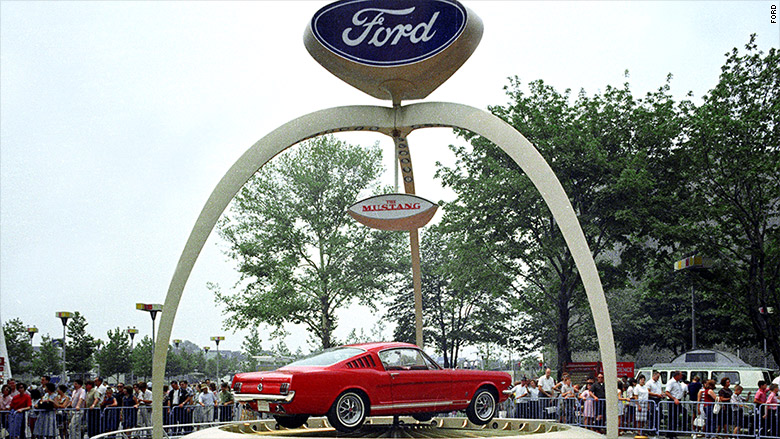 1964 ford mustang exhibit
