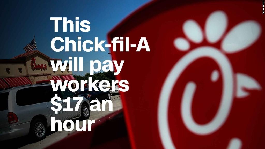This Chick-fil-A will pay workers $  17 an hour