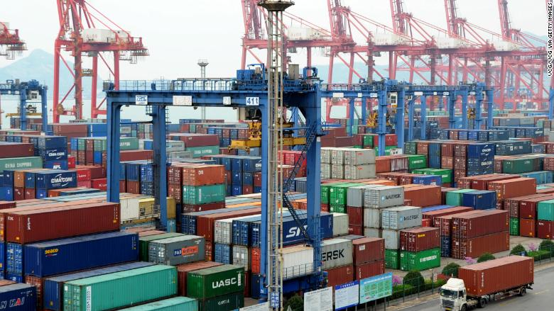 china shipping container port april