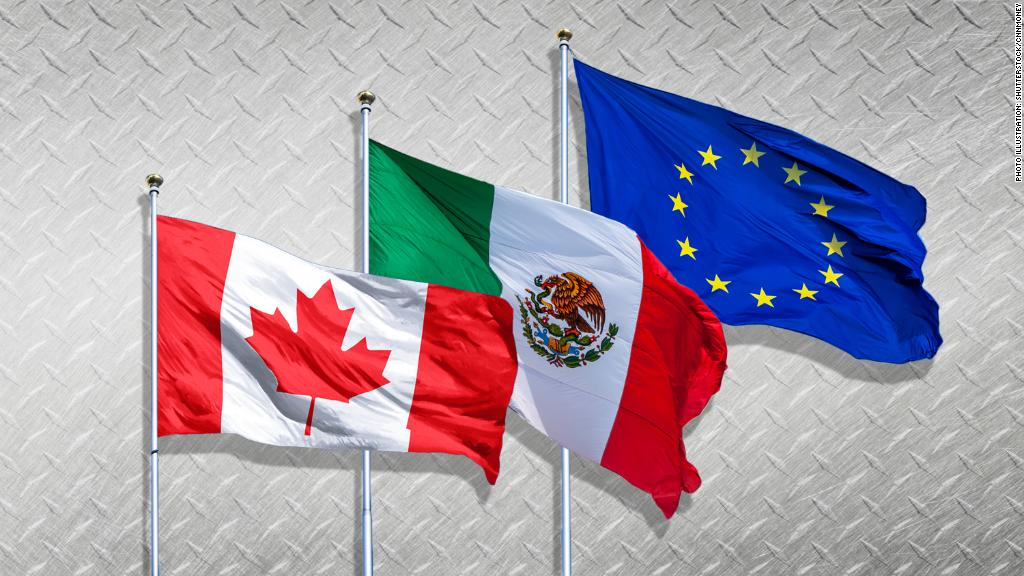Trump hits Canada, Mexico, EU with steep tariffs