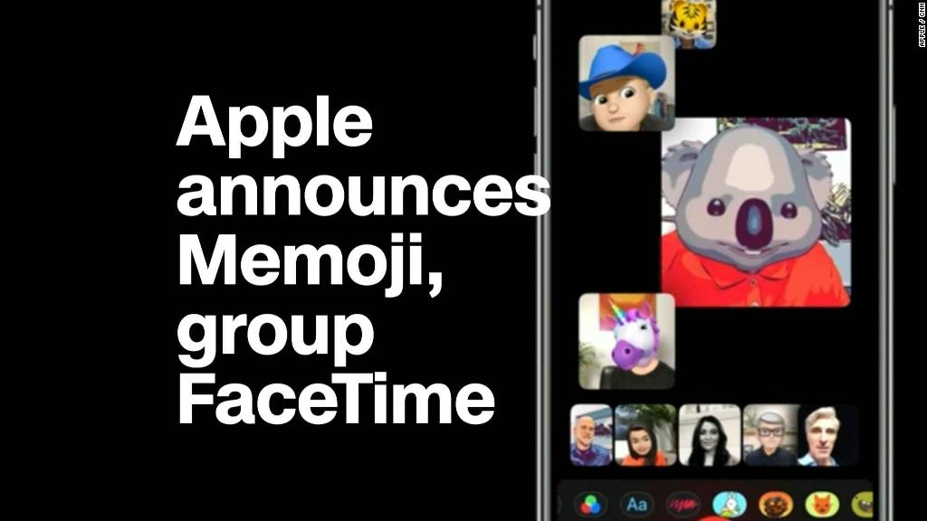 See Apple's new features: 'Memoji' and group FaceTime