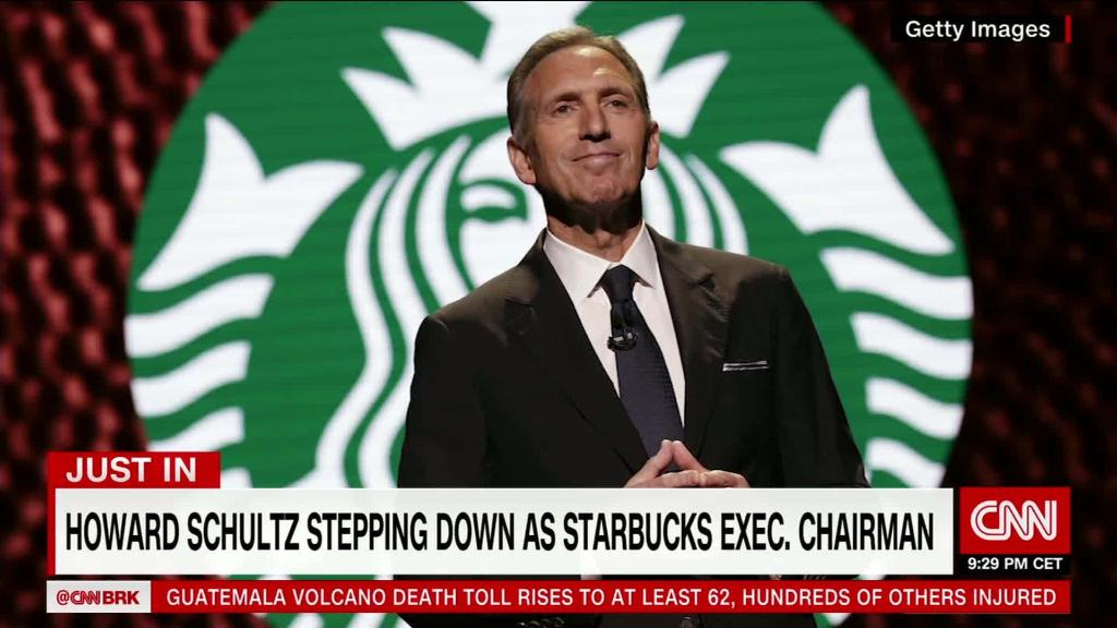 Starbucks Chairman Howard Schultz steps down
