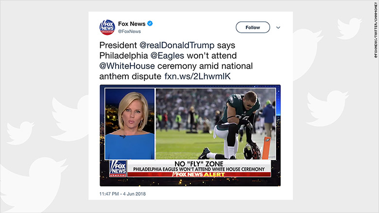 fox news misrepresents eagles tweet