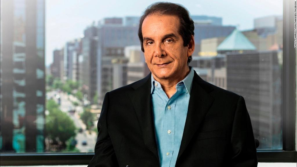 Conservative commentator Charles Krauthammer dies at 68