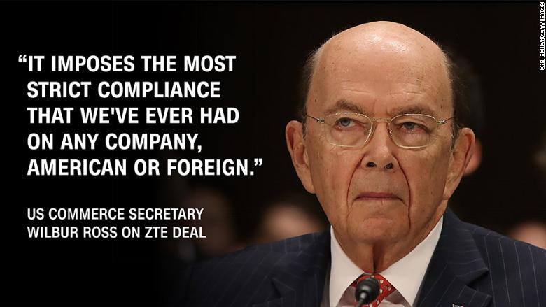 Wilbur Ross ZTE quote