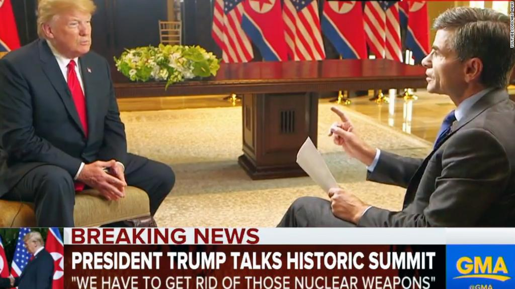 Trump touts trust with Kim in TV interview