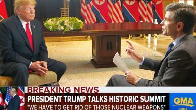 Trump goes on media tour after Singapore summit