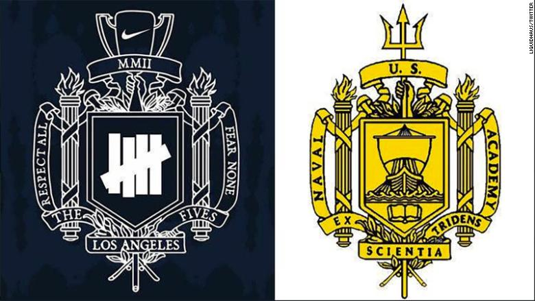 Nike US Naval Academy coat of arms