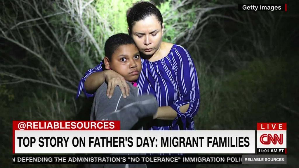Top story on Father's Day: migrant families