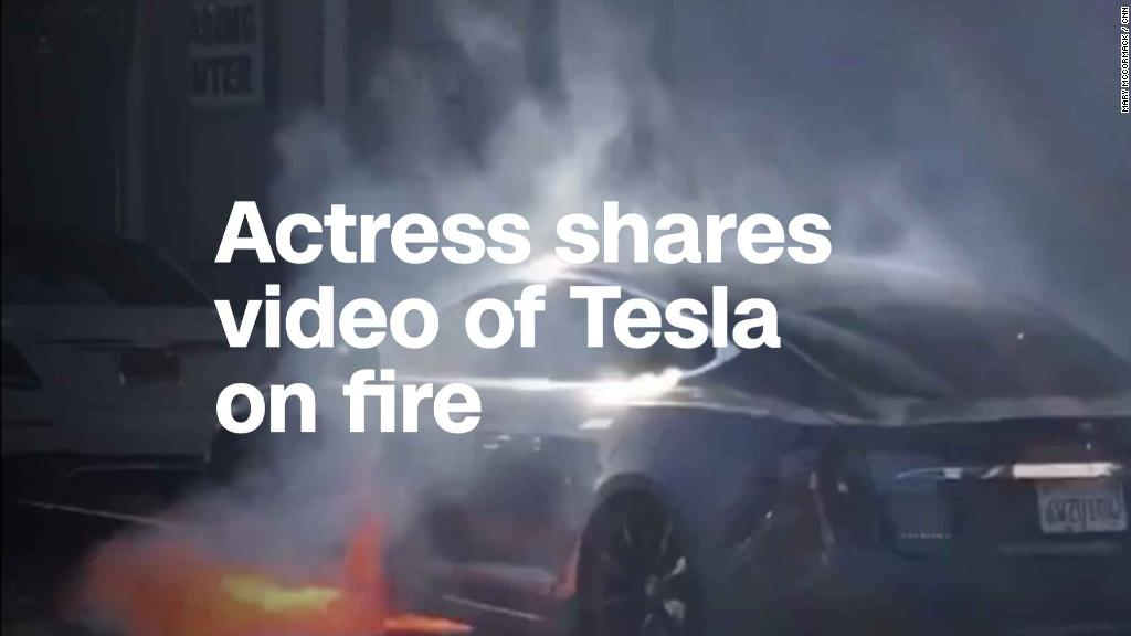 Watch: Viral video of Tesla on fire