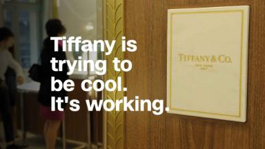 Tiffany is trying to be cool. It's working.