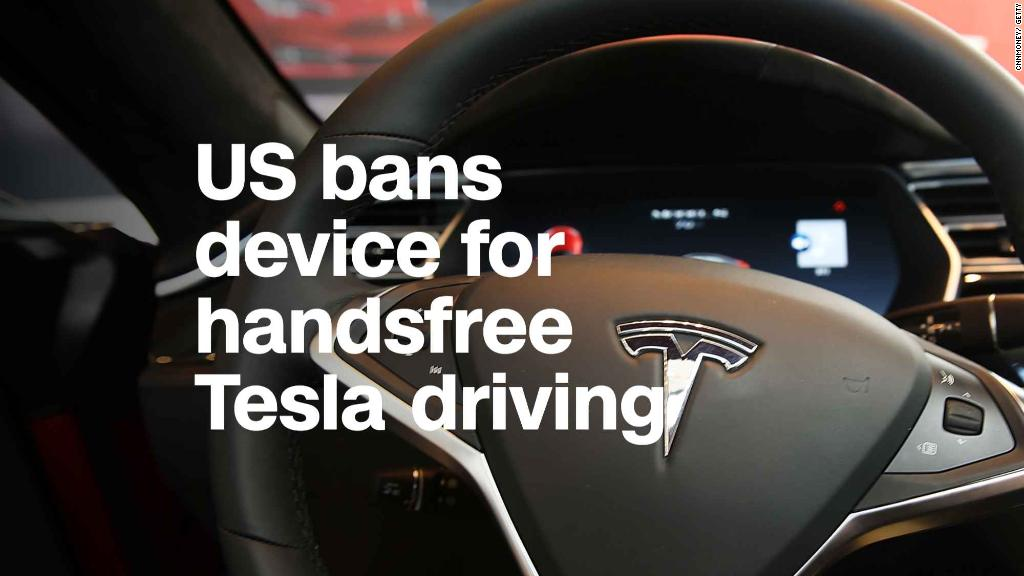 Feds ban device that lets Tesla users drive handsfree