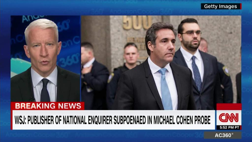 WSJ: National Enquirer subpoenaed in Cohen probe