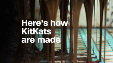 Here's how KitKats are made