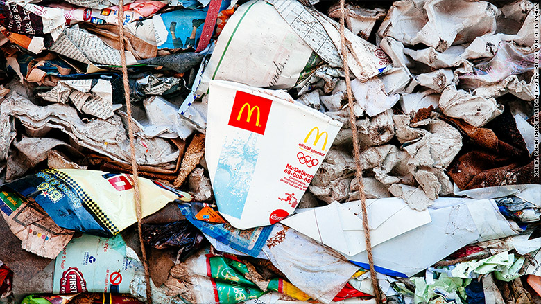 india mcdonalds trash