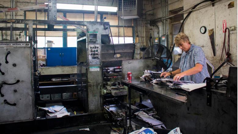 Tracy printing press
