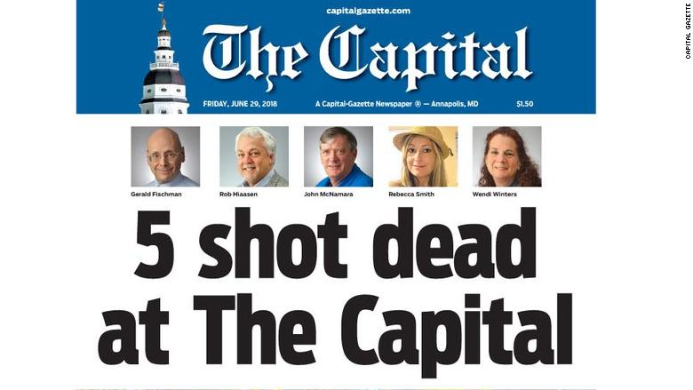 capital gazette front page