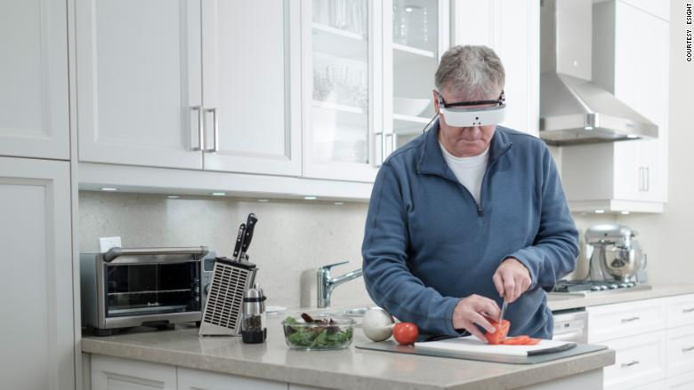 eSight vision assistance headset