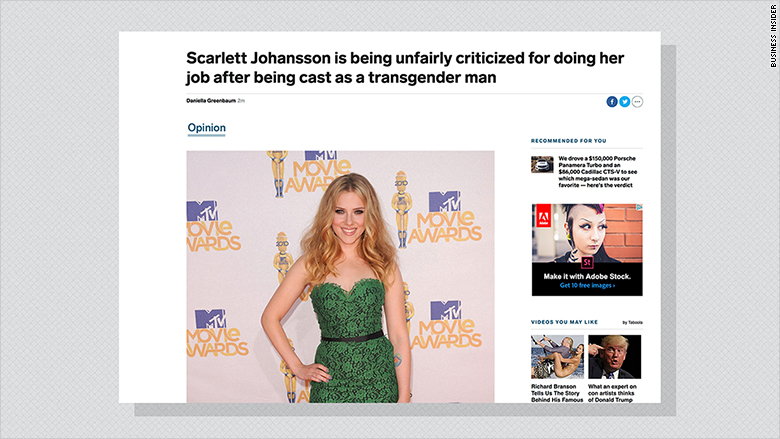 Business Insider columnist quits after editors delete her Scarlett Johansson story