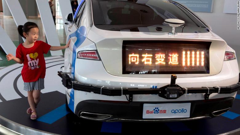 baidu apollo vehicle