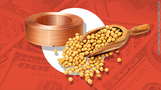 Why investors should worry about plunging copper and soybean prices