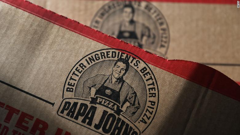 John Schnatter's likeness is on Papa John's pizza boxes