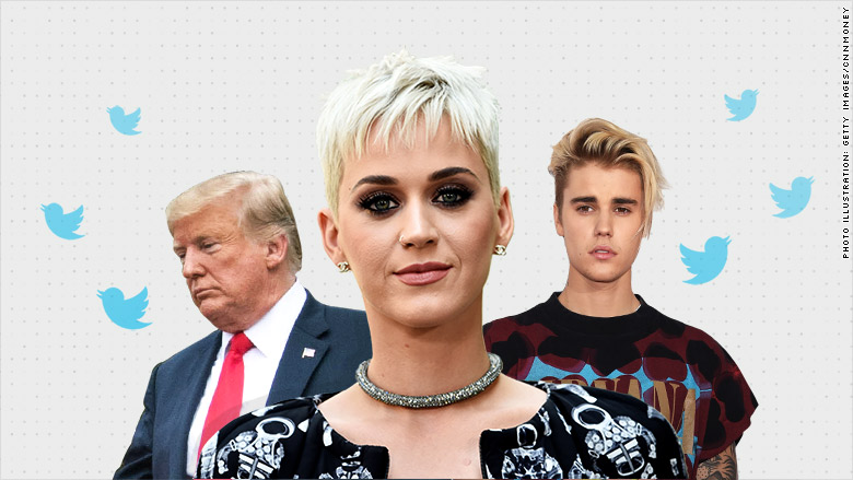 Justin Bieber and Katy Perry among Twitter users hit hardest by follower purge