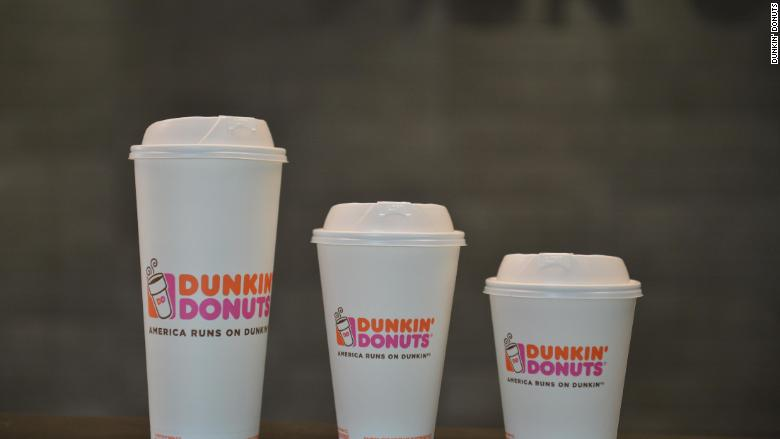 Dunkin' Donuts paper cups