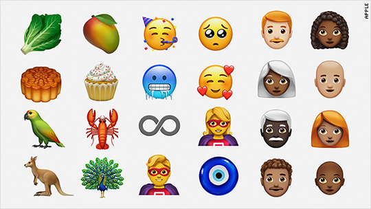 redheads lobsters and cupcakes apple shows off new ios emojis