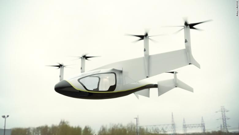 rolls-royce flying taxi delivery