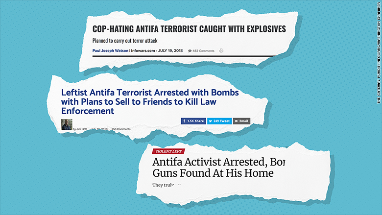 antifa headlines