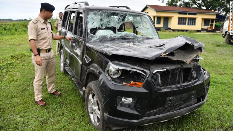 india damaged vehicle