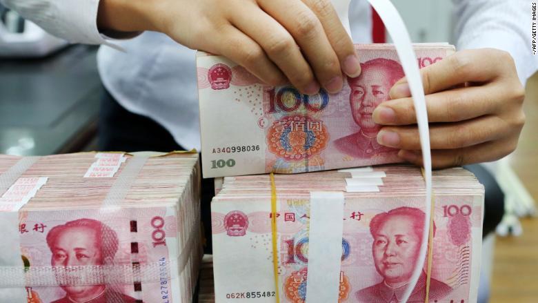china 100 yuan notes
