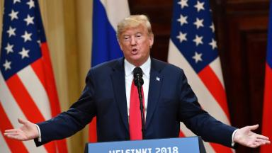 The controversy over missing portion of Trump-Putin news conference transcript