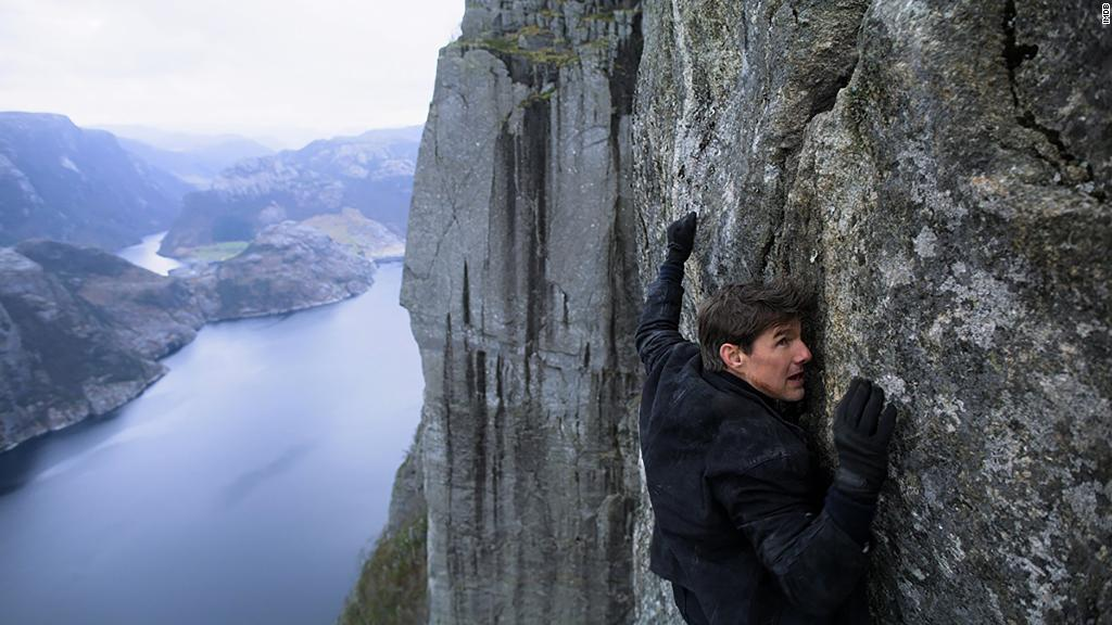 Tom Cruise's stunts pay off; 'Mission: Impossible - Fallout' jumps to No. 1