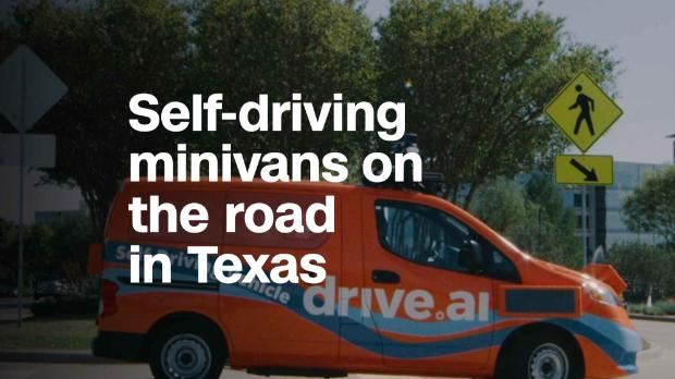 This self-driving van uses screens to talk to pedestrians