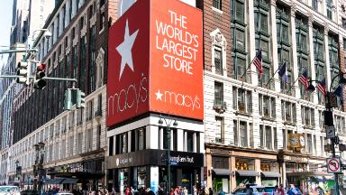 Macy's stock is doing almost as well as Amazon