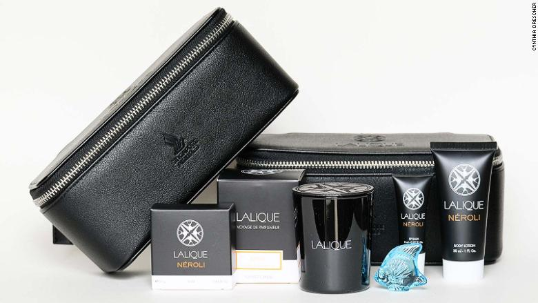 Airline amenity kit from Singapore Airlines Suites