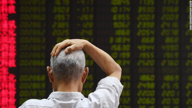 beijing stocks hand on head