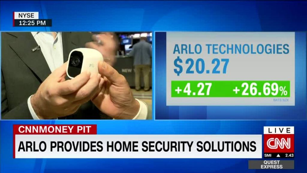 Arlo watches shares rise 39% on debut