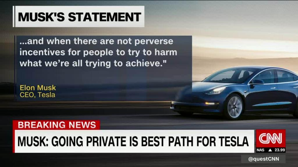 Elon Musk claims Saudis would help him take Tesla private