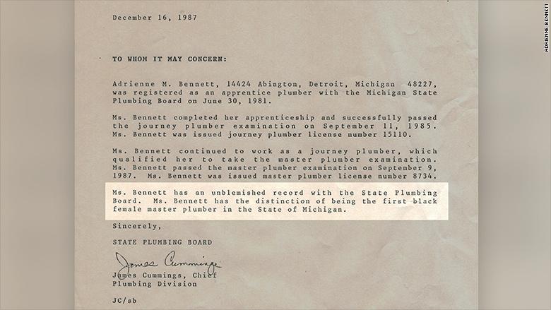 Adrienne Bennett letter