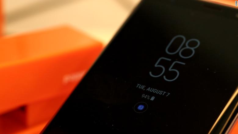 samsung galaxy note 9 clock face