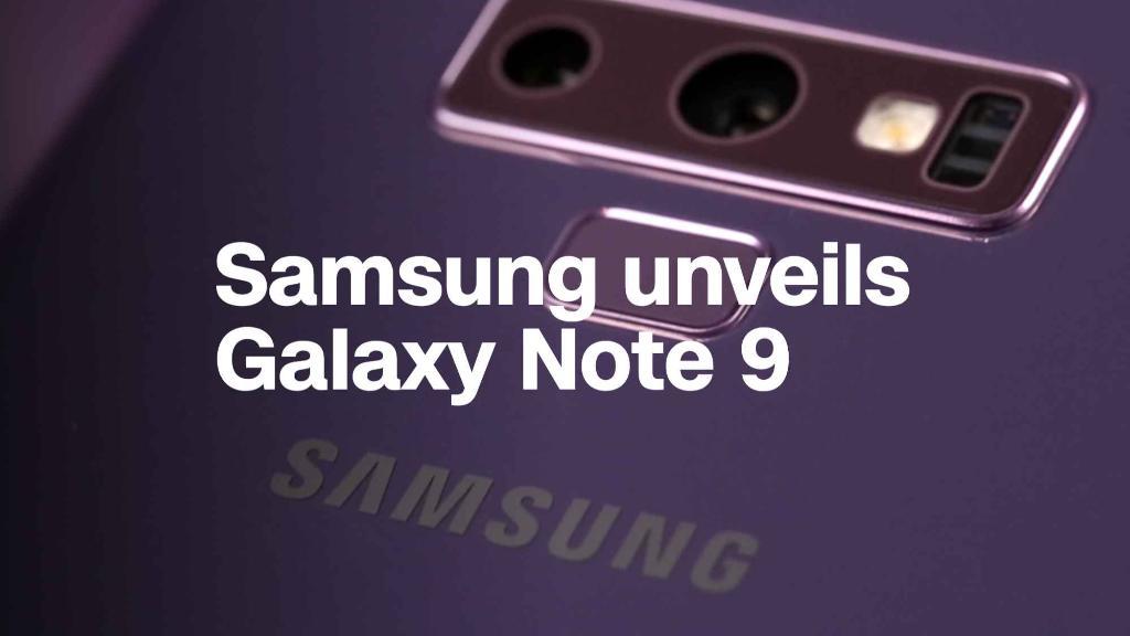 Samsung unveils the Galaxy Note 9
