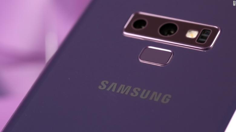 samsung galaxy note 9 camera purple