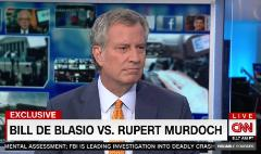 Bill de Blasio speaks out against Murdoch