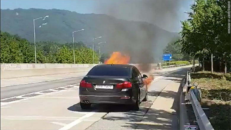 bmw fire south korea 2