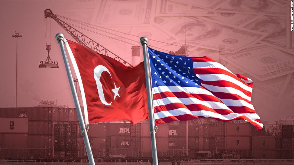 Turkish lira weakens after US threatens more sanctions